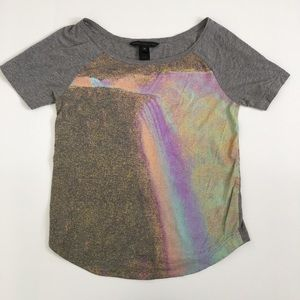 Marc by Marc Jacobs gray and pastel t-shirt